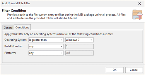 Configuring OS and platform conditions