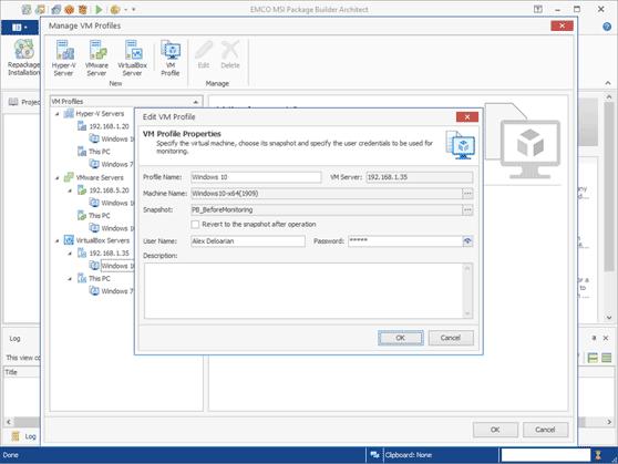 EMCO MSI Package Builder Professional Edition screenshot