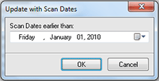 Selecting scan age for custom update